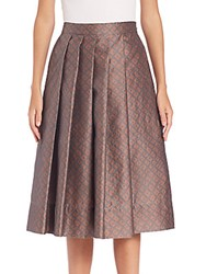 Pauw Printed Pleated Skirt Grey Multi