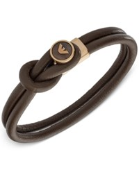 Armani Exchange Emporio Men's Leather Toggle Bracelet Egs2213251 Brown