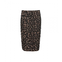 Burberry Embellished Pencil Skirt Mid Camel