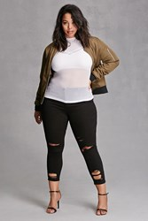 Forever 21 Plus Size Mid Rise Jeans Black