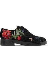 Laurence Dacade Homere Embroidered Velvet Brogues Black