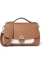 Mallet And Co Basil Textured Leather Shoulder Bag Tan