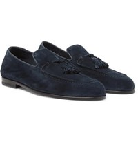 Harry's Of London Adrian Suede Tasselled Loafers Navy