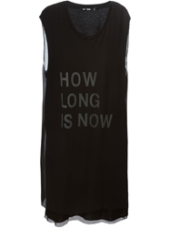 Blk Dnm How Long Is Now Print Dress Black