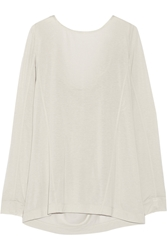 Donna Karan Draped Modal Blend Jersey Top