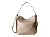 Lauren Ralph Lauren Morrison Double Zip Hobo Moonlight Hobo Handbags Beige