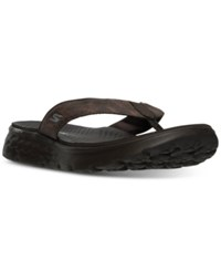 Skechers Men's On The Go 400 Vista Comfort Thong Sandals From Finish Line Chocolate