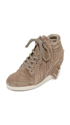 Ash Beatnik Fringe Wedge Sneakers Cocco