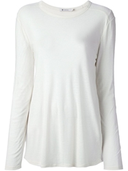 T By Alexander Wang Long Sleeve T Shirt Nude And Neutrals