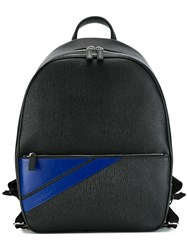 Salvatore Ferragamo Striped Pocket Backpack Black