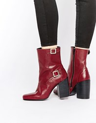 Warehouse Double Buckle 60'S Boot Oxblood