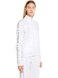 Givenchy Logo Bands Neoprene Jersey Track Jacket White