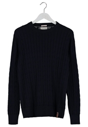 Knowledge Cotton Apparel Jumper Dunkelblau Dark Blue