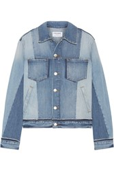 Frame Patchwork Denim Jacket Light Denim