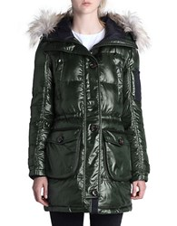 Rainforest Thermoluxe Faux Fur Trimmed Parka Hunter