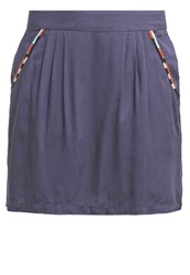 Teddy Smith Jade Mini Skirt Dark Blue