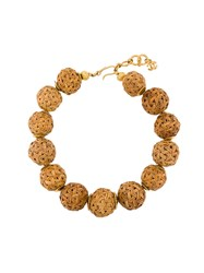 Chanel Vintage 1999 Spheres Short Necklace Nude And Neutrals
