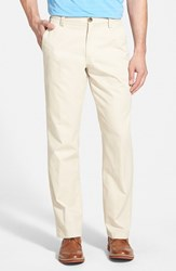 Men's Cutter And Buck 'Beckett' Straight Leg Washed Cotton Pants Sand