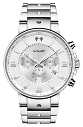Movado 'S.E. Pilot' Chronograph Bracelet Watch 42Mm Silver
