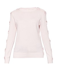 Ted Baker Sakarie Bow Detail Cashmere Blend Jumper Light Pink