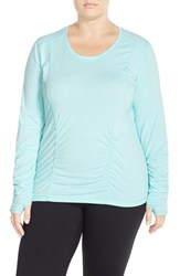 Plus Size Women's Zella 'Z 6' Long Sleeve Tee Blue Veneer