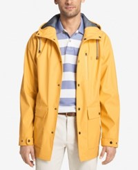 Izod Men's Hooded Wind Slicker Yellow