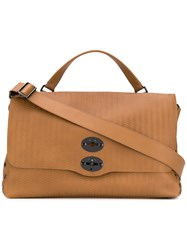 Zanellato Postina Tote Men Leather One Size Brown