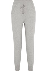 N.Peal Cashmere Cashmere Tapered Pants Light Gray