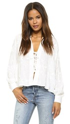 Flynn Skye Get Away Blouse White Embroidery