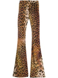 Versace Flared Leopard Print Trousers 60