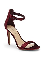 Saks Fifth Avenue Open Toe Top Bucket Sandals Burgundy