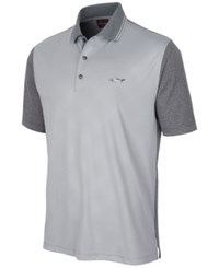 Greg Norman For Tasso Elba Men's Diamond Embossed Golf Polo Only At Macy's Silver