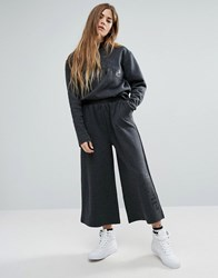 Ellesse Minimal Wide Leg Trousers With Logo Co Ord Charcoal Grey