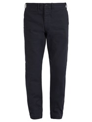 Rrl Slim Fit Cotton Chino Trousers Navy