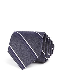 Theory Shadow Stripe Skinny Tie Grey