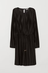 Handm H M Pleated Dress Black