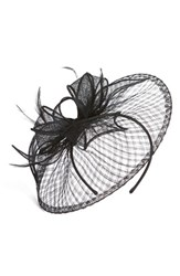 Nordstrom Sinamay Fascinator Headband Black