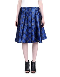 Jonathan Saunders Knee Length Skirts Bright Blue