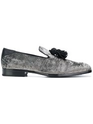 Jimmy Choo Foxley Slippers Leather Grey