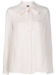 Fay Monogram Embroidery Pussy Bow Shirt 60