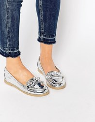 Asos Monthly Flat Shoes Silver
