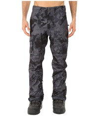 686 Parklan Exile Pants Gunmetal Cubist Camo Men's Casual Pants Black