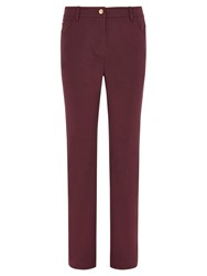 Viyella Straight Leg Smart Jeans Burgundy