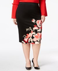 758fb8f891 Alfani Plus Size Printed Pencil Skirt Created For Macy's Gilded Glass
