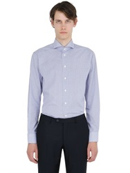Eton Slim Fit Owl Printed Cotton Poplin Shirt