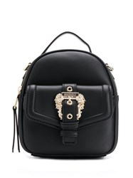 Versace Jeans Couture Buckle Detail Mini Backpack Black