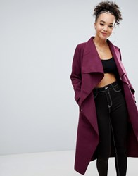 Missguided Oversized Duster Coat Red