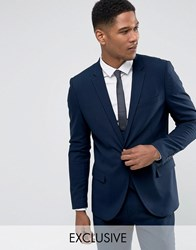 Only And Sons Skinny Suit Jacket Dark Navy
