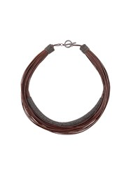 Brunello Cucinelli Layered Rope Necklace Brown