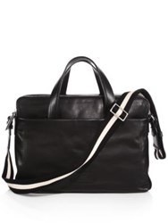 Bally Telag Smooth Leather Briefcase Black